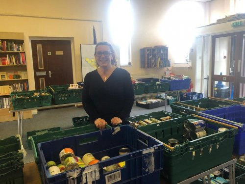 Optical team step in to support Foodbank